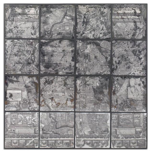 Antique Street Map Wall Art industrial-artwork