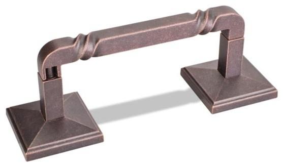 Jeffrey Alexander Rustic Design Bath Tissue Holder - Dark Machined Copper modern-toilet-paper-holders