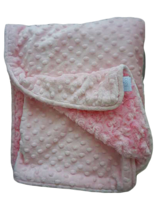 Belle & June - Baby Blanket, Pink Dot - This throw blanket is supremely soft and cozy while soft color scheme keeps it looking elegant and sophisticated in any nursery. Buy this blanket for your baby or give as a shower gift to expectant parents. They will be sure to love and cherish it.