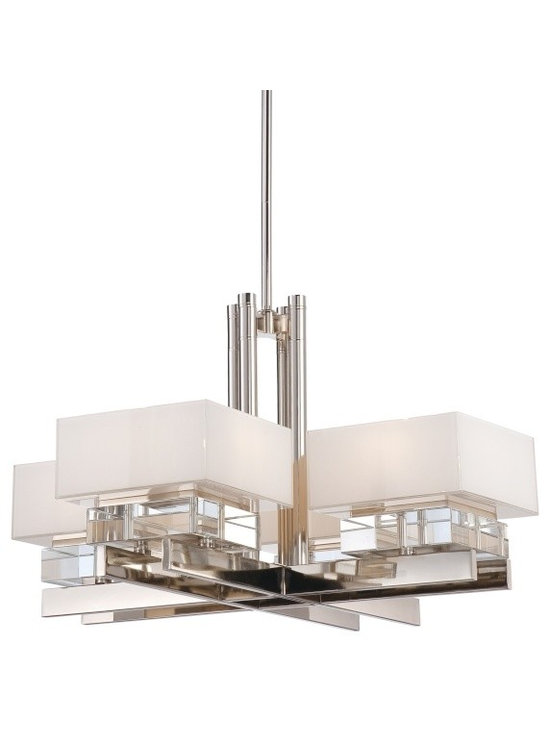 Lamp Shades Add Pizzazz! - For modern elegance, this chandelier delivers with class and style. Eden Roe Collection - MPL N6267-613