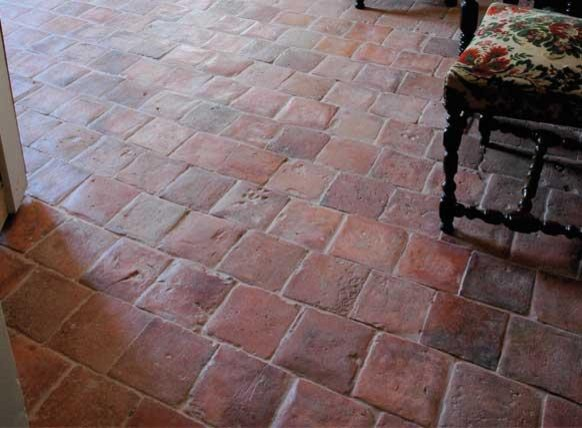 Antique Terracotta Flooring- Red Square- Francois & Co. - Wall And ...