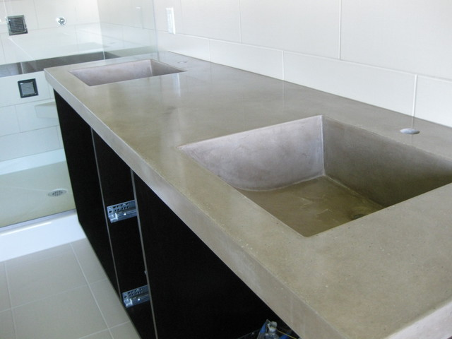 Concrete contemporary Concrete countertops bathroom vanity