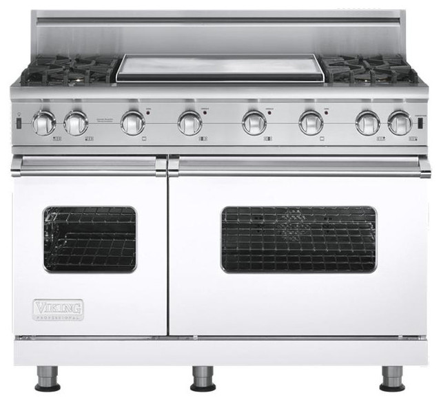 "Viking 48"" Pro-style Gas Range, White Liquid Propane 