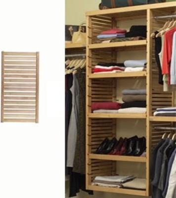 john louis home 12 inch deep adjustable shelves kit. Black Bedroom Furniture Sets. Home Design Ideas