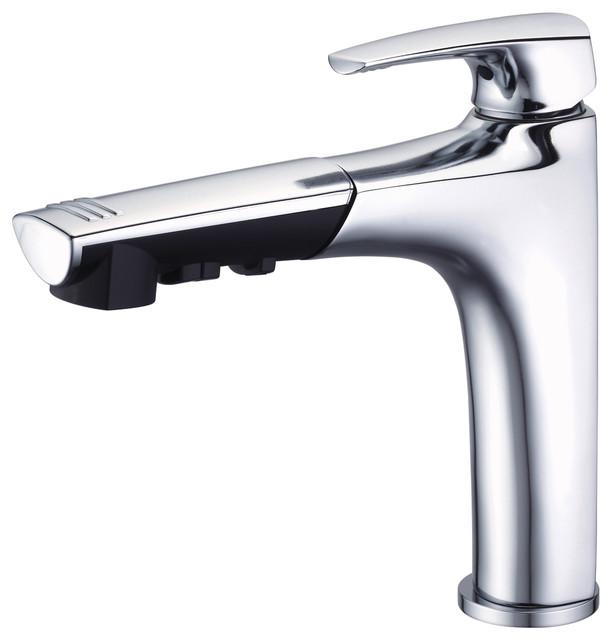 Danze Taju™ Single Handle Pull-Out Kitchen Faucet modern-kitchen-faucets