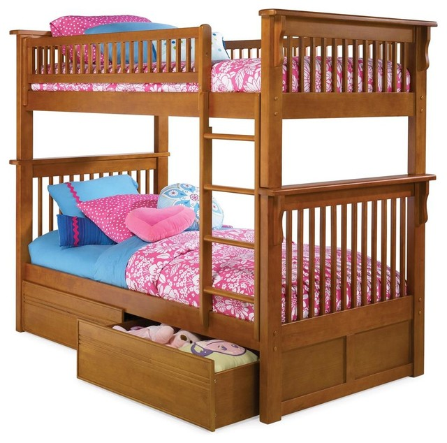 Colorado Twin Over Twin Bunk Bed w Flat Panel contemporary-kids-beds