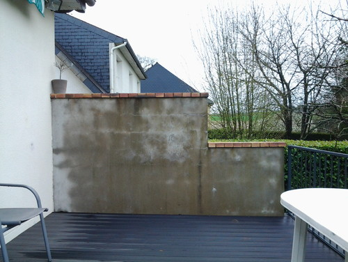 Amenagement mur terrasse for Mur de separation terrasse