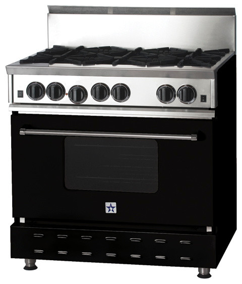 """36"""" BlueStar Range in Brown Green (RAL 6008) modern-gas-ranges-and-electric-ranges"""