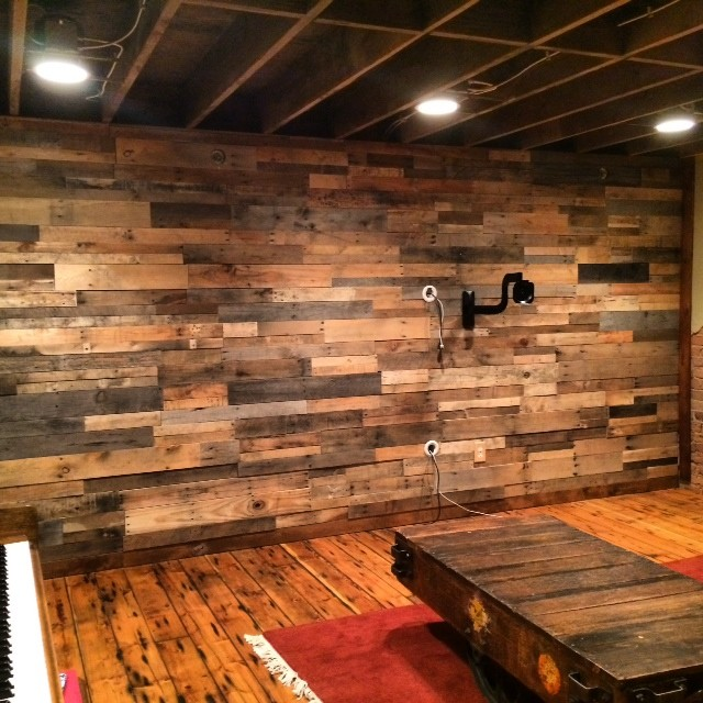 Rustic wood panels