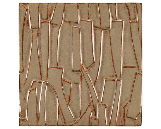 """Ceramic - ANN SACKS Chinois by Robert Kuo 9"""" x 9"""" kuai ceramic field in tea dust"""