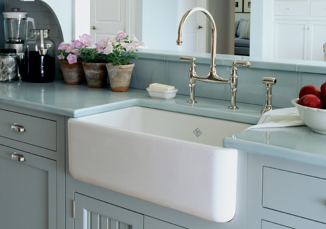 Fireclay Apron Sink : Rohl Shaws Sinks Original Fireclay Apron Sink 18 L x 30 W...