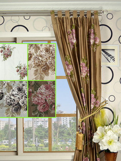 """95"""" L Fantastic 100% Silk Curtains and Drapes traditional"""