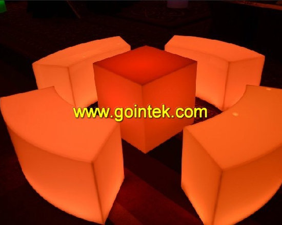glowing led sofa chair for pub decoration -