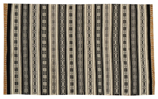 Durie Kilim Flat Weave Hand Woven 100% Wool Striped Oriental Rug Sh15709 traditional-rugs