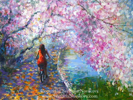 Blossom Alley painting contemporary-artwork