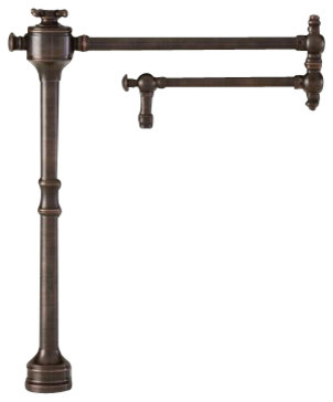 Waterstone Traditional Deck Mount Pot Filler - 3350 traditional-kitchen-faucets