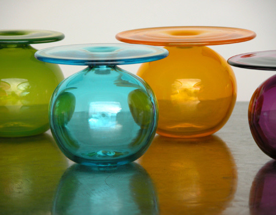 Elizabeth Lyons Glass Little Vases for Big Flowers contemporary vases