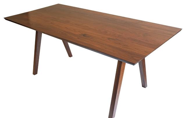 sputnik midcentury modern solid walnut dining table midcentury dining tables by moderncre8ve. Black Bedroom Furniture Sets. Home Design Ideas
