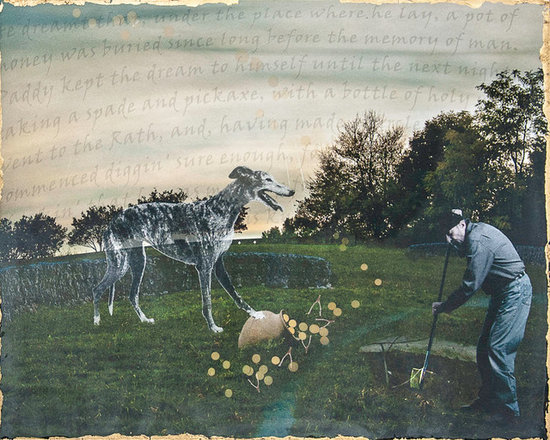 The Greyhound - Paddy McDermid, a ne'er-do-well in an Irish fable, dreams a pot of gold is buried in a fairy rath.