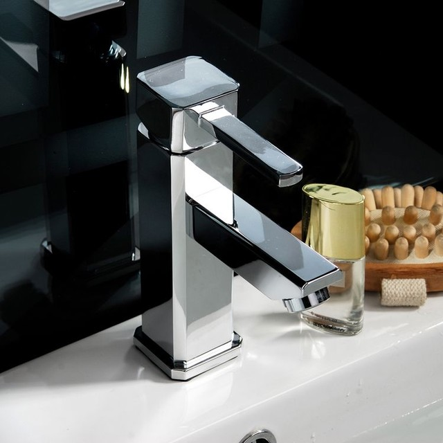 Single Handle Bathroom Faucet Chrome contemporary bathroom faucets