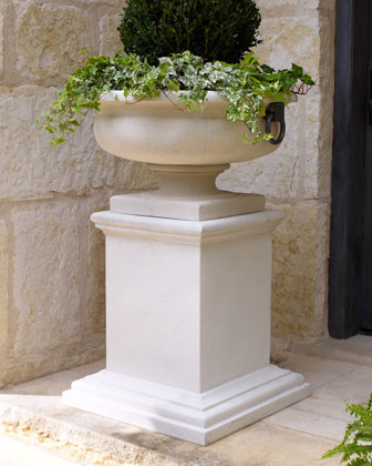 Tuscan Style Pedestal Traditional Outdoor Pots And
