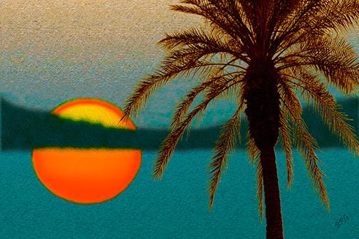 Paradise Sun by Ben and Raisa Gertsberg - canvas art, art print, giclee tropical-artwork