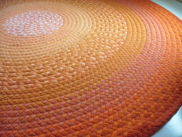 Bright Orange Rug by Green At Heart modern-rugs