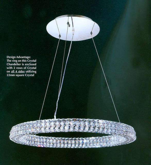 Led Swirl Six Ring Chandelier Pendant Light Contemporary: Modern LED Ring Chandelier