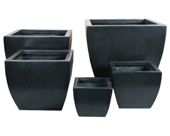 AuthenTEAK Lightweight Fiberglass Planters - Our variety of super practical, super stylish lightweight outdoor planters includes a wide range of styles, sizes and shapes to help you curate a gallery of botanical beauty in any outdoor environment. All-weather, fiberglass planters have a multi-functional appeal. They're designed to help you keep each and every plant right where you need it thanks to their lightweight build and are treated for all weather systems for supreme durability. Like most planters, fiberglass pots should be kept off the ground during the winter months, but many of our styles already include feet so you can keep them outside all year round.