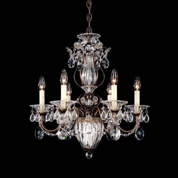 Schonbek Swarovski Lighting 1246 Bagatelle 7 Light Chandelier