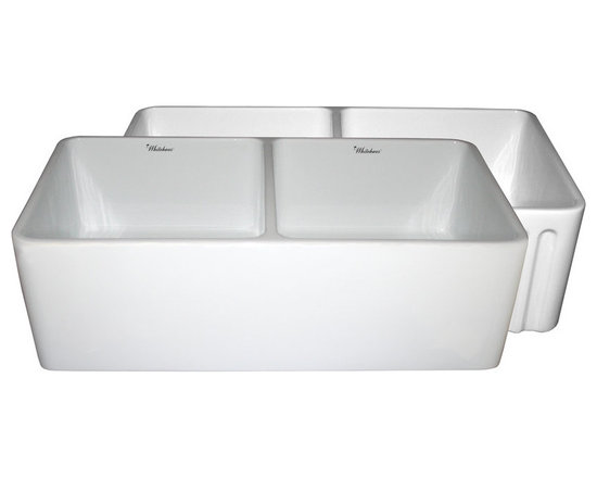 Whitehaus Dual-Apron Reversible Fireclay Kitchen Sink -