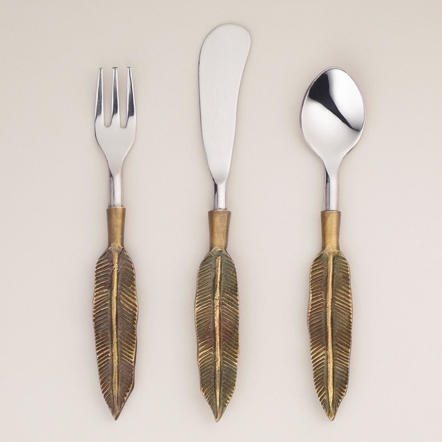 Feather Cocktail Flatware Collection Eclectic Flatware