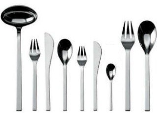 """Alessi """"Colombina Collection"""" 75 Piece Cutlery Set - Table Spoon modern-flatware"""