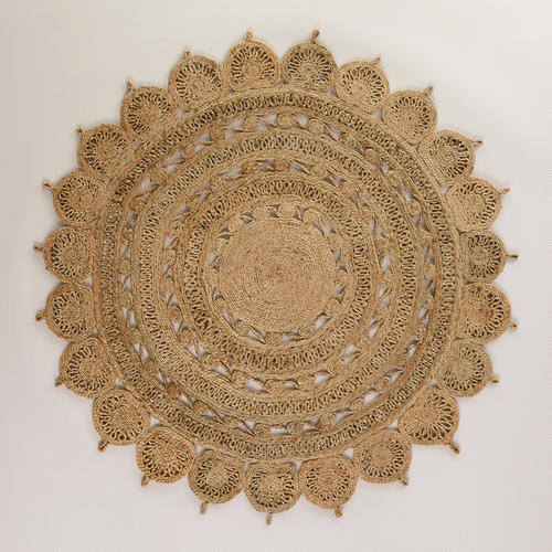 Round Handwoven Jute Rug Eclectic Rugs By Cost Plus World Market