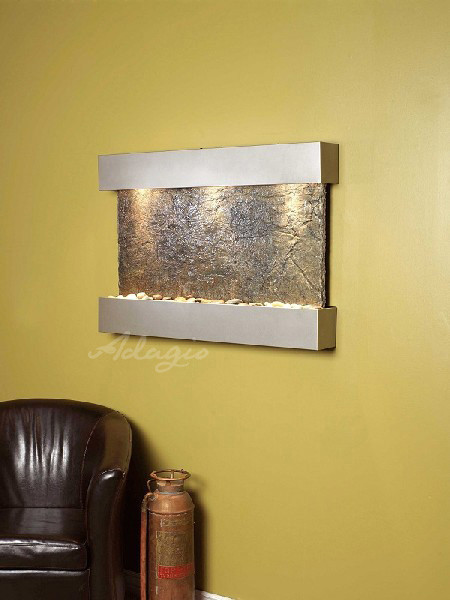 Slate wall mounted water features the sunrise springs - Wall mounted water feature ...