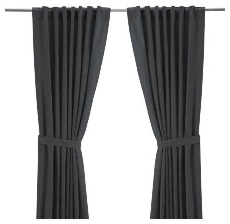 RITVA Pair of curtains with tie-backs modern-curtains