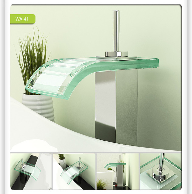Modern Sinks And Faucets : ... Vessel Sink Faucet 0206A modern-bathroom-faucets-and-showerheads