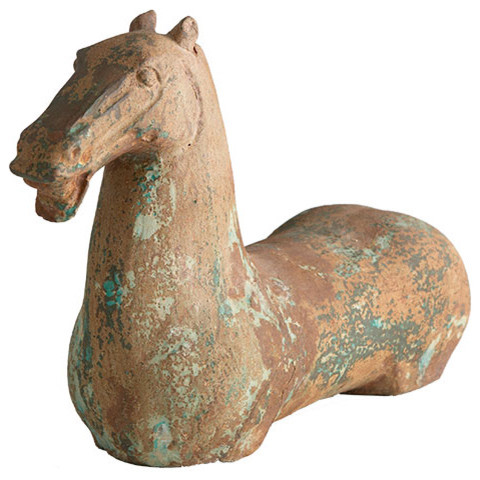 Chinese Iron Horse Sculpture | Decorative Accents | Wisteria asian-decorative-objects-and-figurines