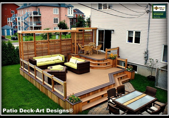 Patio deck art designs outdoor living Small deck ideas