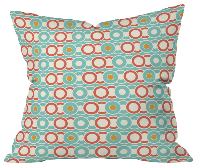 Heather Dutton Ring A Ding Throw Pillow, 20x20x6 contemporary-decorative-pillows