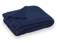 Navy Blue Brushed Mohair Throw contemporary throws