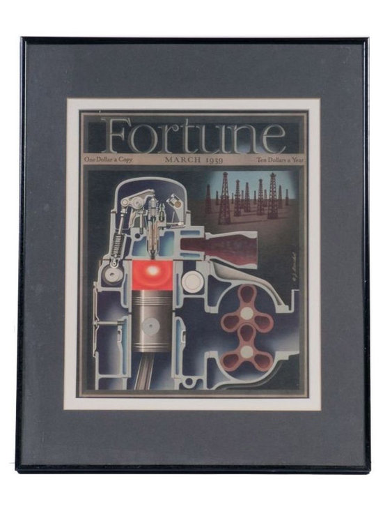 Fortune Print in Black Frame - March 1939 - $99 Est. Retail - $49 on Chairish.co -