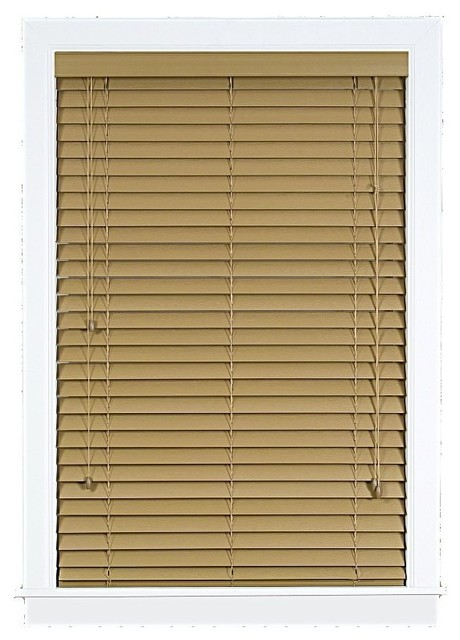Madera falsa 2 inch faux wood blind traditional window for 2 inch faux wood window blinds