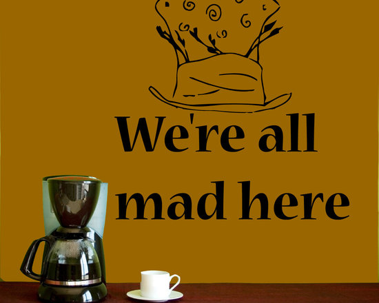 Vinyl Decals Alice in Wonderland Quote We are All Mad Here Home Wall Decor Remov -