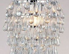 AF Lighting Crystal Teardrop Mini Chandelier contemporary-pendant-lighting