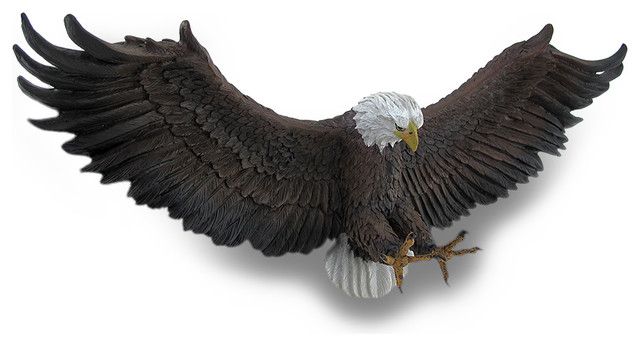 Freedoms Flight American Eagle Wall Mounted Sculpture Wall