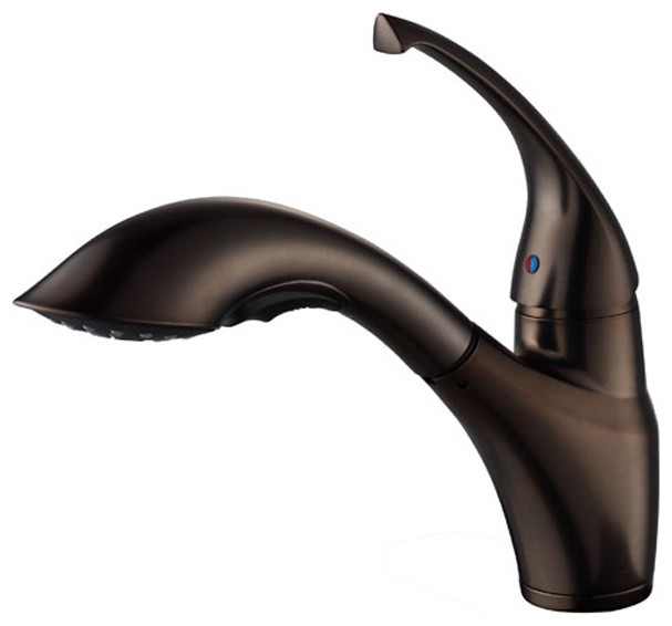 Lever Pull Out Kitchen Faucet Oil Rubbed Bronze modern kitchen faucets