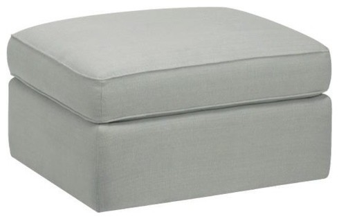 Standard Ottoman in Linen Ice Blue modern-footstools-and-ottomans