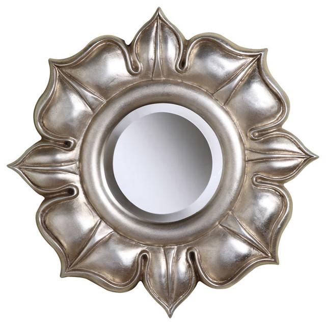 "Emmeline 16"" Silver Leaf Beveled Mirror wall-mirrors"