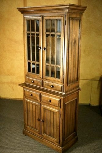 China Cabinet With Glass Doors - Traditional - boston - by ECustomFinishes